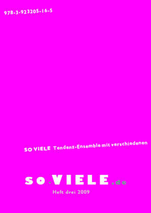 so VIELE Heft 3 Cover
