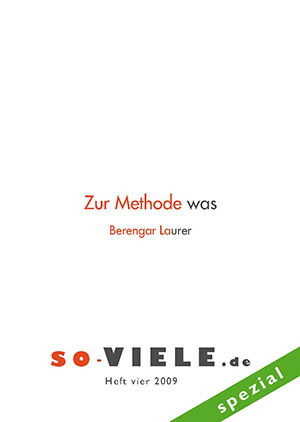 so VIELE Heft 4 2009 Cover